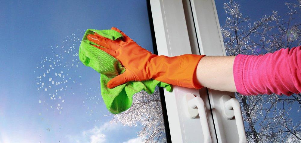 Как помыть окна в офисе?
