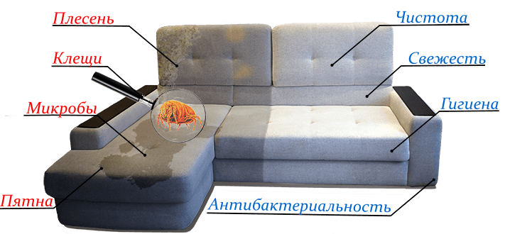 химчистка мебели в Казани